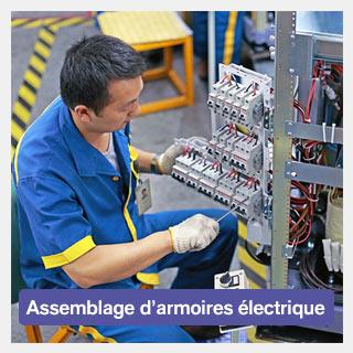 Assemblage d'armoires électrique